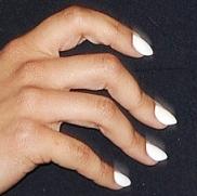 Almond Shape White Nails